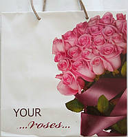 Пакет подарочный бумажный квадрат 23х24х10 (24-123)