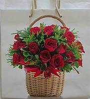 Пакет подарочный бумажный квадрат 23х24х10 (24-126)