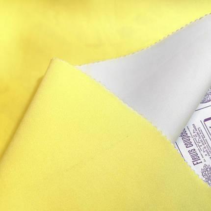 Трикотаж неопрен двусторонный желтый белый, фото 2
