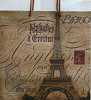 Пакет подарочный бумажный крафт квадрат 23х24х10 (24-127)