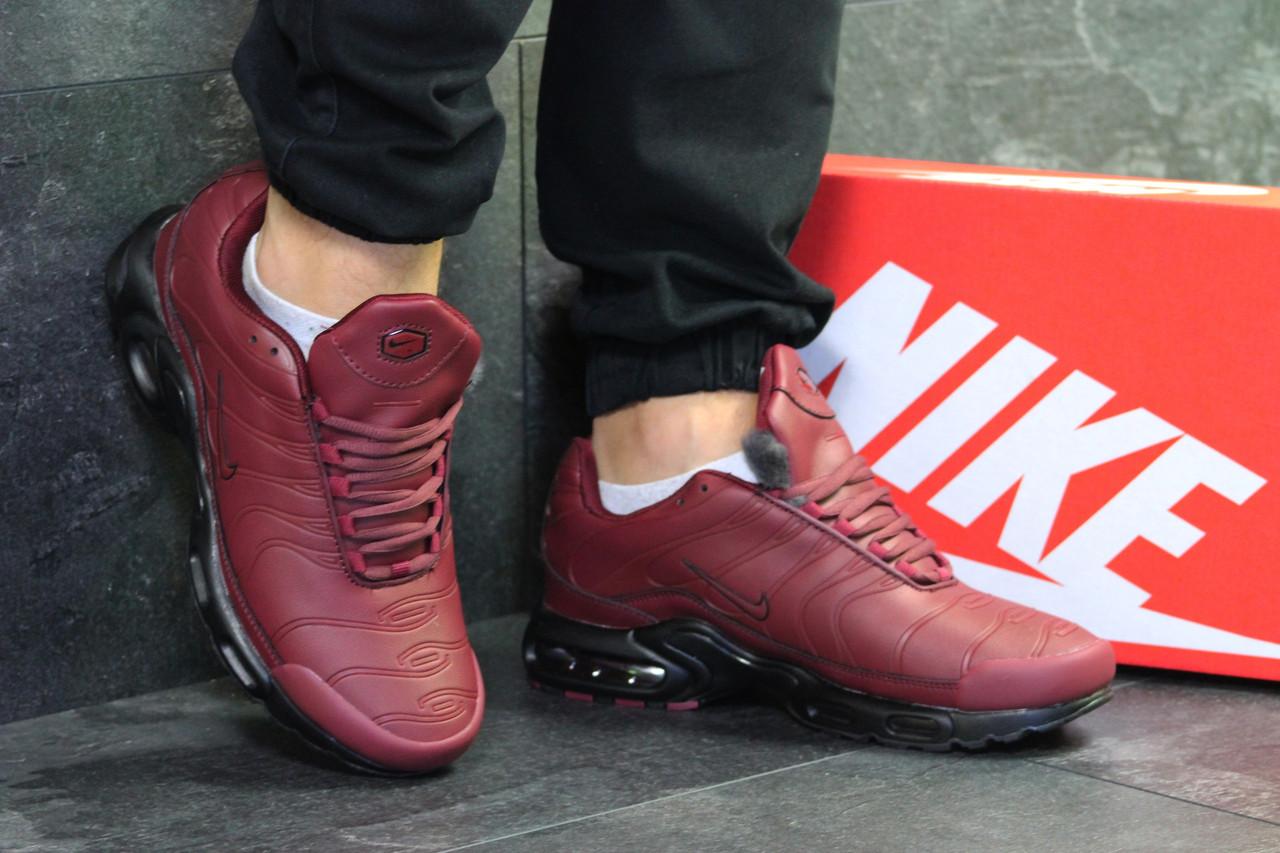 be81726b Nike Air Max TN 95 мужские зимние кроссовки бордовые (Реплика ААА+) ...