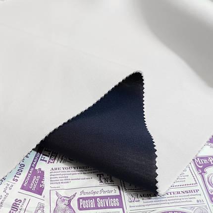 Трикотаж неопрен двусторонный синий - белый, фото 2