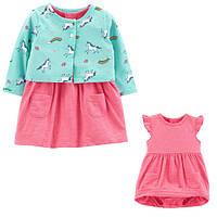 Комплект плаття-боді з кардіганом для дівчинки Carters єдинороги