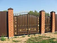 Кованые ворота с веноградом