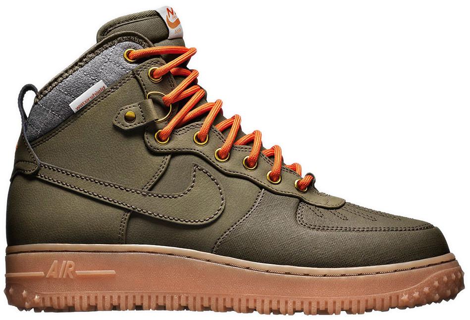 Мужские кроссовки Nike Air Force 1 Duckboot 'Dark Loden' (Найк Аир Форс) зеленые