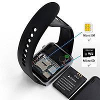 Сенсорные Часы Smart Watch А1 с симкартой (сим картой) и флешкой
