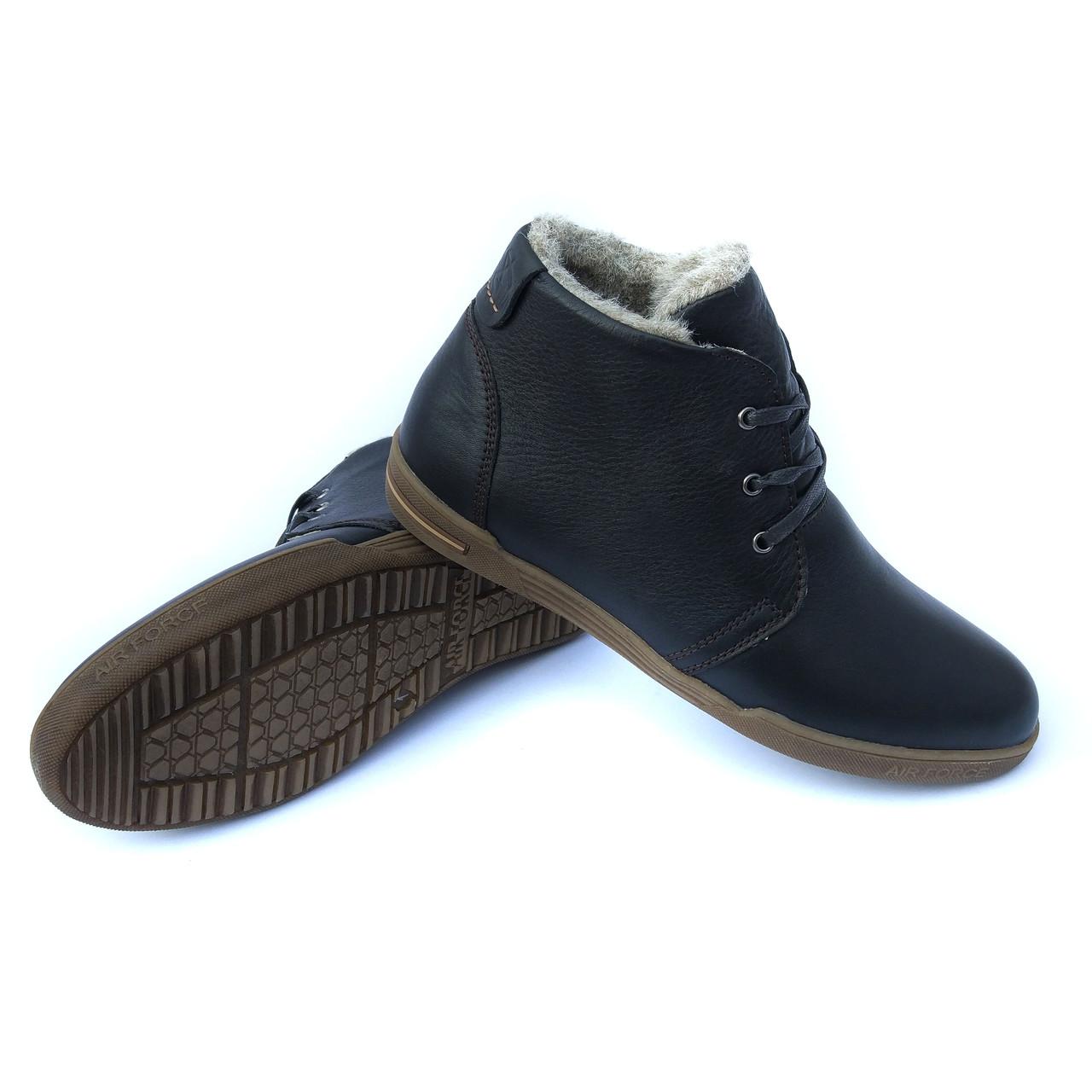 8e480e7aa Мужские ботинки Харьков: зимние кожаные ботинки, черного цвета, на меху, от  украинского