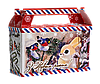 """Упаковка новорічна """"Листівка"""" міні-саквояж 300-400г"""