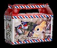 """Упаковка новорічна """"Листівка"""" міні-саквояж 300-400г, фото 1"""