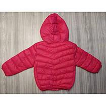 Куртка детская демисезонная  на девочку розовая, фото 3