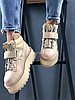 Женские кроссовки Rihanna x Puma Fenty Sneaker Boot Strap (Пума) бежевые, фото 2