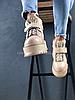 Женские кроссовки Rihanna x Puma Fenty Sneaker Boot Strap (Пума) бежевые, фото 5