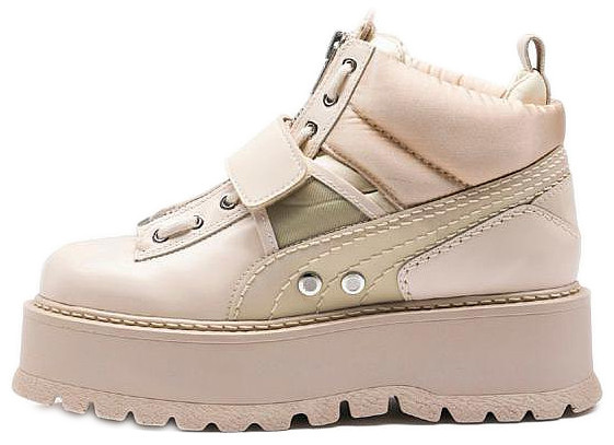 Женские кроссовки Rihanna x Puma Fenty Sneaker Boot Strap (Пума) бежевые
