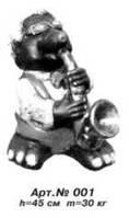 Садовая скульптура «Крот с саксофоном»