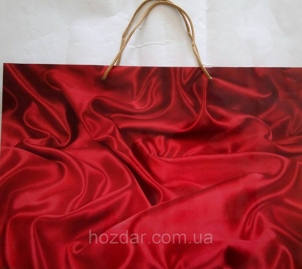 Пакет подарочный бумажный гигант горизонтальный 46х32х15 (28-033)
