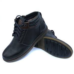 Черные зимние ботинки Detta на натуральном меху