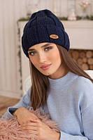 Зимняя женская шапка «Палома» Джинсовый