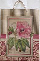 Пакет подарунковий паперовий крафт гігант вертикальний широке дно 30х40х17 (31-015)