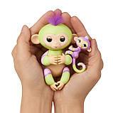 Интерактивная ручная обезьянка мама и малыш Джесс и Иден, WowWee Fingerlings Baby Monkey & Mini BFFs, фото 2