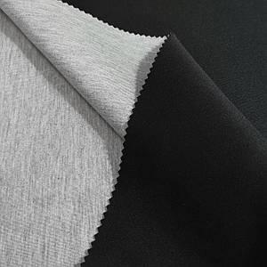 Трикотаж неопрен двусторонний черный с серым