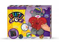 Набор для творчества Креативные часы настенные Мишка с сердцем Danko Toys