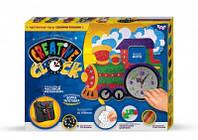 Набор для творчества Креативные часы настенные Поезд Danko Toys