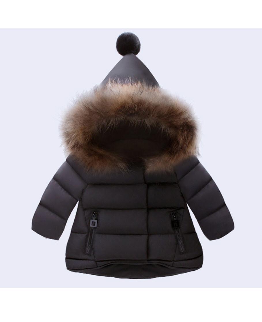 Теплая куртка на девочку Очарование (черн) 80