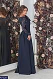Вчернее платье костюмная+гипюр с напылением блеска раз.  42, 44, 46, 48, фото 3