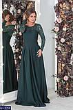 Вчернее платье костюмная+гипюр с напылением блеска раз.  42, 44, 46, 48, фото 4