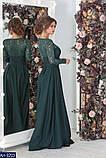 Вчернее платье костюмная+гипюр с напылением блеска раз.  42, 44, 46, 48, фото 6