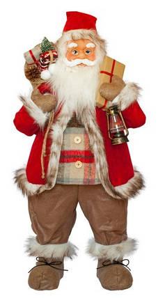 Фигурка новогодняя Санта Клаус, 81 см (Красный / Черный), фото 2