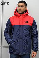 Мужская зимняя куртка-парка, зимова куртка The North Face (комби), Реплика