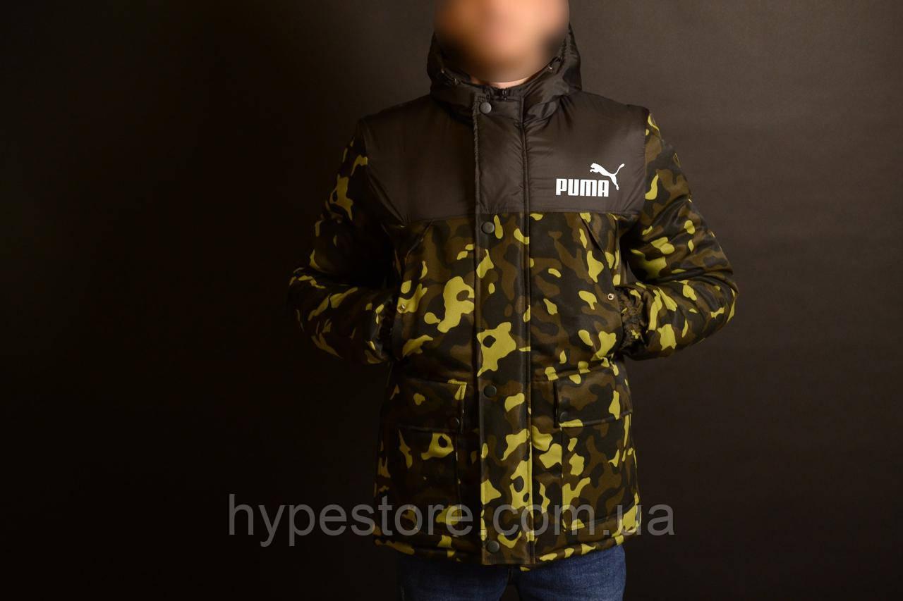 Мужская зимняя камуфляжная куртка-парка, зимова куртка Puma, Реплика ... 139b955b302