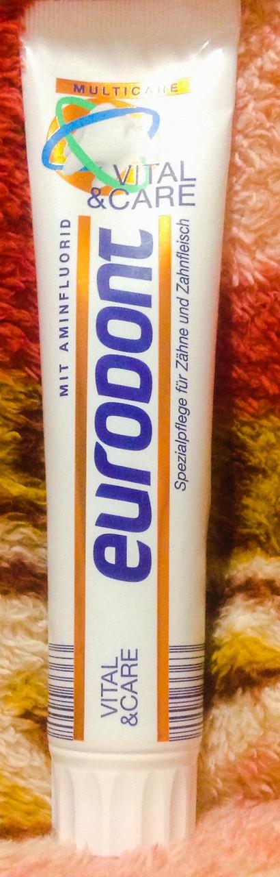 Зубная паста Eurodont multicare 125 ml. Германия