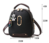 Рюкзак-сумка чорний Sujimima, фото 4