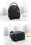 Рюкзак-сумка чорний Sujimima, фото 5