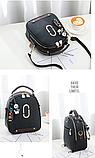 Рюкзак-сумка чорний Sujimima, фото 2