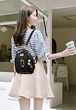 Рюкзак-сумка чорний Sujimima, фото 6