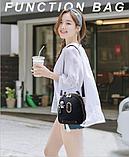 Рюкзак-сумка чорний Sujimima, фото 7