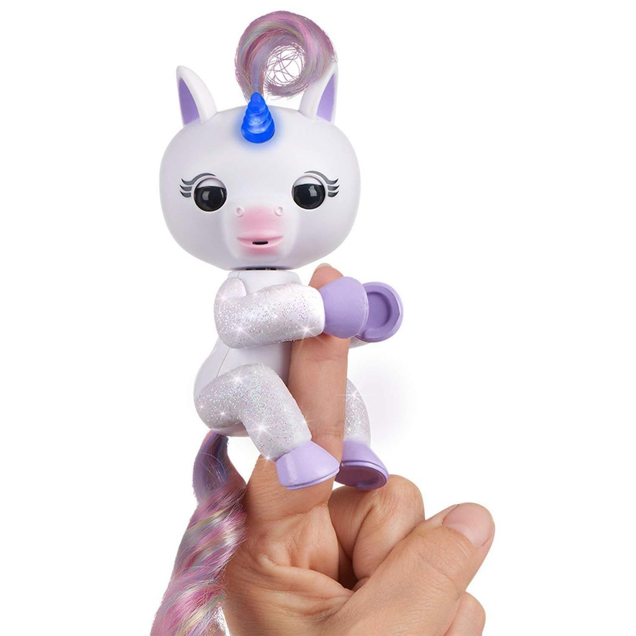 Интерактивный блестящий единорог со светящимся рогом, WowWee Fingerlings Light Up Unicorn, Оригинал из США