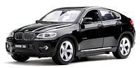 Машинка р/у 1:24 Meizhi лиценз. BMW X6 металлическая (черный), MZ-25019Ab