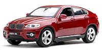 Машинка р/у 1:24 Meizhi лиценз. BMW X6 металлическая (красный),  MZ-25019Ar