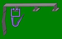 Крючок на алюминиевый карниз  с роликами