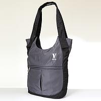 Женская сумка Vistel 12003 G серая плащевка спортивная