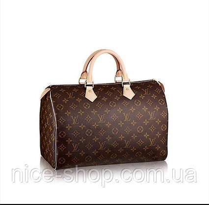 Cумка Люкс-реплика Louis Vuitton Speedy Large 35 см, монограмм классика, фото 2