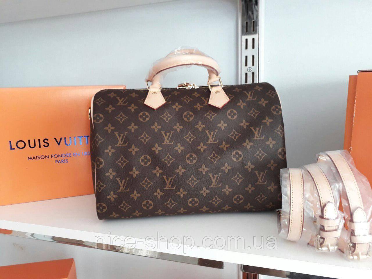 Cумка Люкс-реплика Louis Vuitton Speedy Large 35 см, монограмм классика