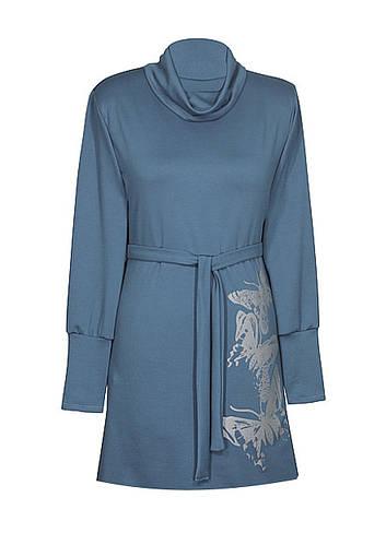 Платье с воротником хомут Бабочки цельнокроеным