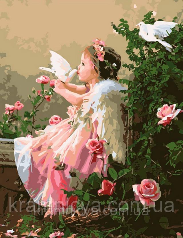 """Рисование по номерам """"Ангелочек и голуби"""", 50х60см, ММС044"""