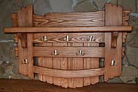 Вешалка под старину из массива ( с необычным декором)