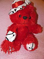 """Мягкая игрушка """"Медвежонок в шляпке и шарфике"""", музыкальная"""
